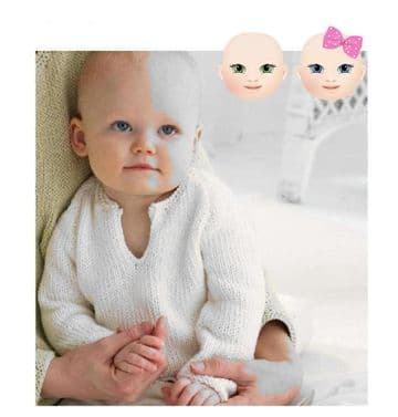 PDF Digital Download Baby Knitting Pattern Easy ARAN  Sweater Jumper Chest 16-19''