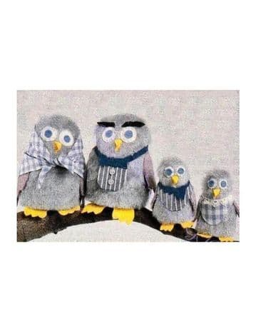 PDF Digital Download Sewing Pattern Owl Family Stuffed Plush Soft BodyToy Bird Toys