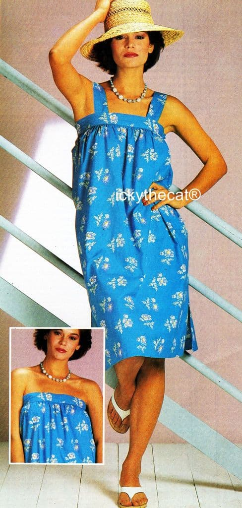 PDF Digital Download Sewing Tutorial with Vintage Instructional Pattern Ladies Womens Girls Sundress