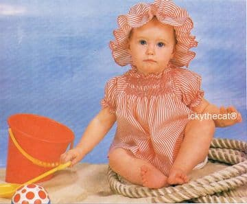 PDF Digital Download Sewing Tutorial with Vintage Pattern Baby Girls  Shirred Dress with Mob Cap