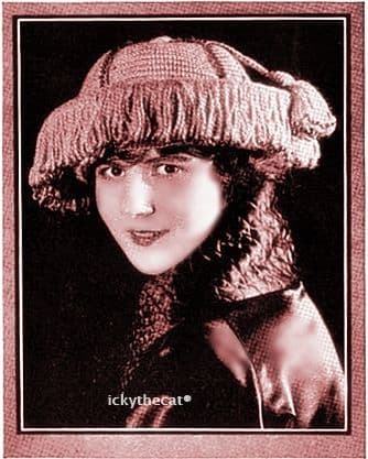 PDF Digital Download Vintage 1910 Crochet Pattern Ladies Women's Beaded Fringed Hat