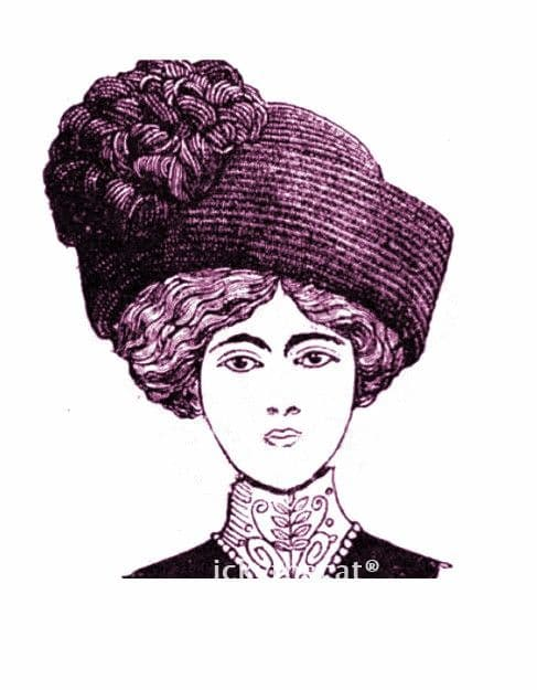 PDF Digital Download Vintage 1910s Crochet Pattern Ladies Women's Edwardian High Hat Optional  Trim