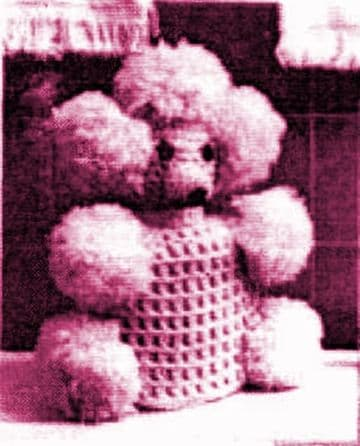 PDF Digital Download Vintage 1950's Crochet Pattern Poodle Dog Toilet Roll Cover