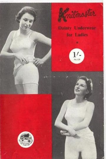 PDF Digital Download Vintage 1950s Fifties Machine Knitting Pattern Ladies Underwear