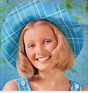 PDF Digital Download Vintage 70s Chart Sewing Pattern  Womens Wide Brimmed Hat  Sun Hat Weddings