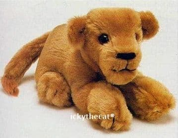 PDF Digital Download Vintage Chart Sewing Pattern 14'' Lion Cub Stuffed Plush Soft Toy Animal Cat