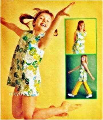 PDF Digital Download Vintage Chart Sewing Pattern Child Girls Sun Dress or Top 28'' Clothes