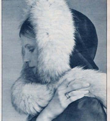 PDF Digital Download Vintage Chart Sewing Pattern Ladies Womens Fur Trim Velvet Hood Hat Millinery