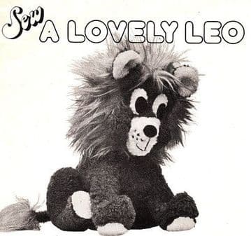 PDF Digital Download Vintage Chart Sewing Pattern Lion 14 inches Stuffed Plush Soft Body Toy Animal