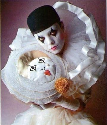 PDF Digital Download Vintage Chart Sewing Pattern Pierrot Clown Doll Cushion Pillow Toy Toys Novelty