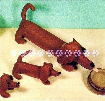 PDF Digital Download Vintage Chart Sewing Pattern Plush Soft Toy Animal Sausage Dog/Dachshund