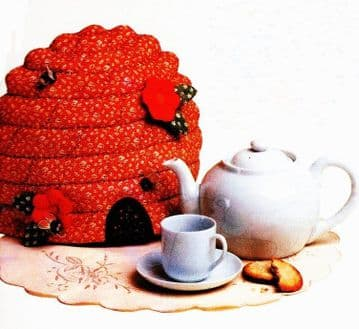 PDF Digital Download Vintage Chart Sewing Pattern Quilted Beehive Tea Cosy Cozy