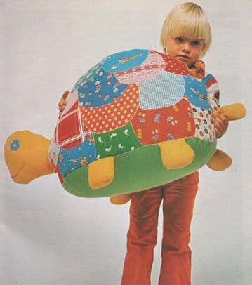 PDF Digital Download Vintage Chart Sewing Pattern Sit On Patchwork Tortoise Stuffed Soft Body Toy
