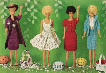 "PDF Digital Download  Vintage Crochet Pattern  12"" Teenage Fashion Dolls Barbie & Sindy"