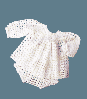 PDF Digital Download Vintage Crochet Pattern Baby Children's Angel Top and Pants 18-24'' 4 ply