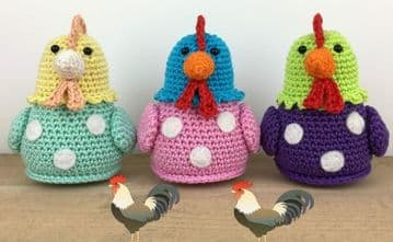 PDF Digital Download Vintage Crochet Pattern Chicken Hen Toy Bird Stuffed Plush Soft Toys Birds