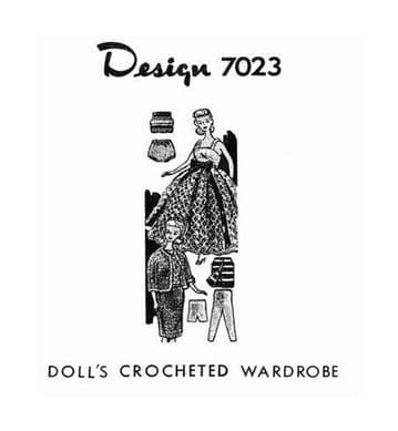 PDF Digital Download Vintage Crochet Pattern  Dolls Clothes Teenage Fashion Dolls Barbie