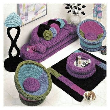 PDF Digital Download Vintage Crochet Pattern Furniture Teenage fashion Doll Barbie Sindy Dolls Toys
