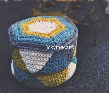 PDF Digital Download Vintage Crochet Pattern Hassock Footstool  Pouffe Chunky Yarn
