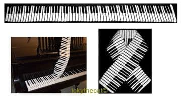PDF Digital Download Vintage Crochet Pattern Ladies Womens ​​​​​​​Mans Mens ​​​​​​​Piano Music Scarf
