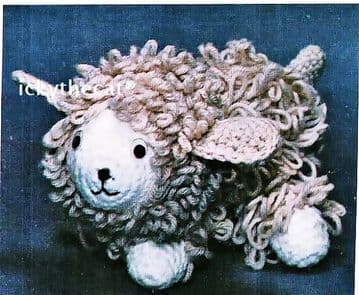 PDF DIGITAL DOWNLOAD VINTAGE CROCHET PATTERN LAMB SHEEP SOFT TOY ANIMAL