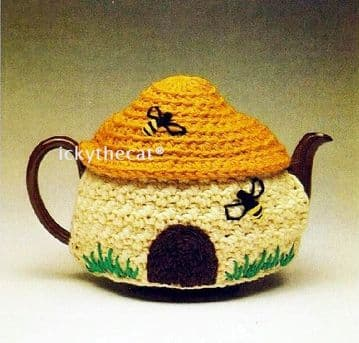 PDF Digital Download Vintage Crochet Pattern Novelty Beehive Tea Cosy/Cozy ​​​​​​​Medium Size Pot ​​