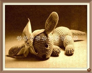 PDF Digital Download Vintage Crochet Pattern Puppy Dog Animal Toy Stuffed Plush Soft Toys Child