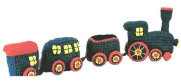 PDF Digital Download Vintage Crochet Pattern Stuffed Soft Toy Train Child Toys Activity