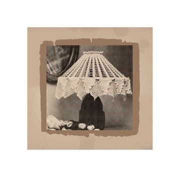 PDF Digital Download Vintage Crochet Pattern to make a Pretty Filet Lace Ceiling or Table Lamp Shade