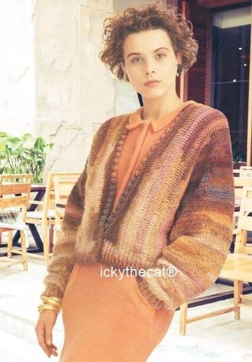 PDF Digital Download Vintage Crochet Pattern Women's Ladies Girls Cardigan Jacket 91-102 cm DK