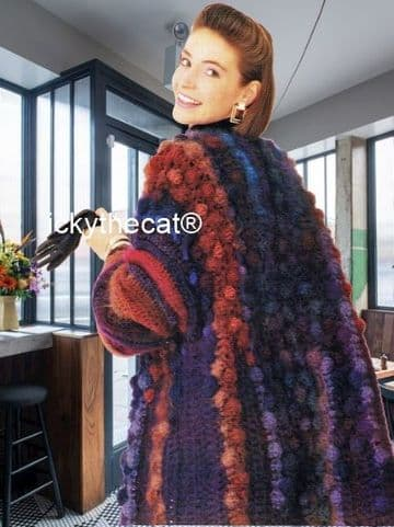 PDF Digital Download Vintage Crochet Pattern Women's Ladies Girls Swing Cardigan Jacket Coat