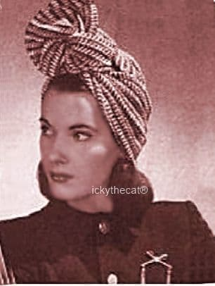 PDF Digital Download Vintage Crochet Pattern Womens Ladies Easy Turban Hat