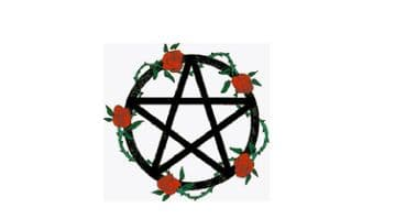 PDF Digital Download  Vintage Cross Stitch Pattern  to make  A Rambling Rose Pentagram Picture