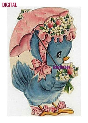 PDF Digital Download Vintage Cross Stitch Sewing Pattern Blue Bird Approx Size 4.8 x 3.2'' 14 Count