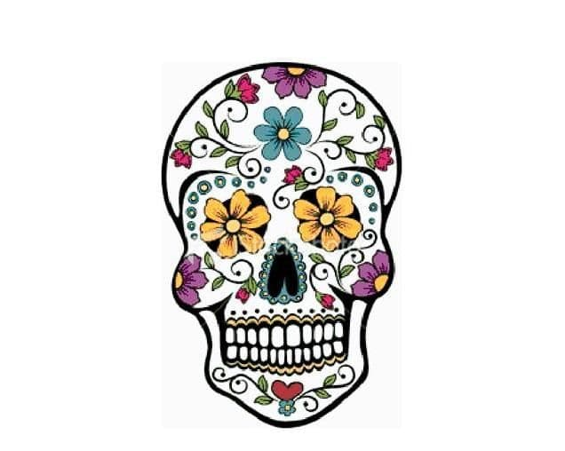 PDF Digital Download Vintage Cross Stitch Sewing Pattern Day of the Dead Sugar Skull Picture