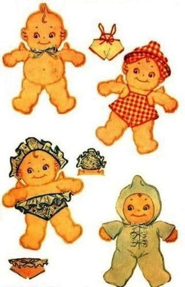 PDF Digital Download Vintage FULL SIZE Sewing Pattern to make 14-15'' Kewpie Dolls with Clothes Stuffed Soft Body Dolls