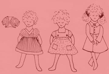 PDF Digital Download Vintage FULL SIZE Sewing Pattern to make a Wardrobe of Clothes for 16'' Dolls 2 Romper Suits 3 Dresses and a Coat