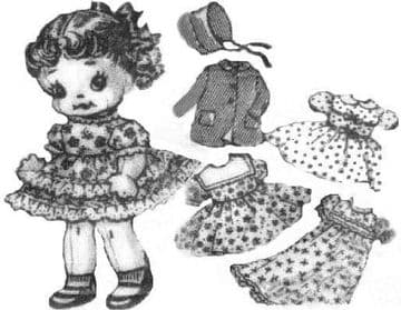 PDF Digital Download Vintage FULL SIZE Sewing Pattern to make Laura Wheeler 936 A Jointed Soft Body