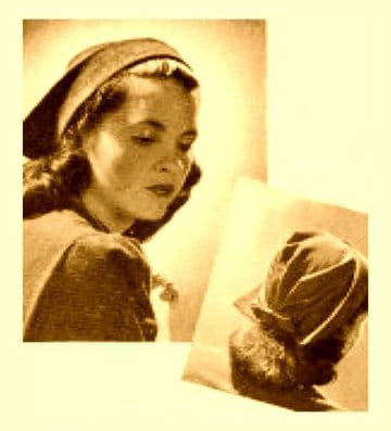PDF Digital Download Vintage Instructional Sewing Pattern to make a Ladies Forties Hat A Dutch Bonnet An Average Size