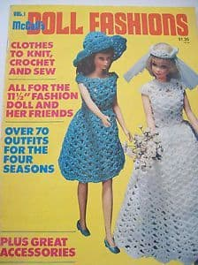 PDF Digital Download Vintage Knitting Crochet Sewing Pattern Doll Clothes Teenage Fashion Dolls Toys