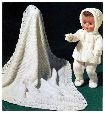 PDF Digital Download Vintage Knitting Pattern 3 ply Doll Clothes Baby Dolls 14-16'' Toy Toys