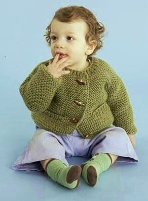 PDF Digital Download Vintage Knitting Pattern Baby Babies Child's Aran Easy Cardigan Jacket 19-24''