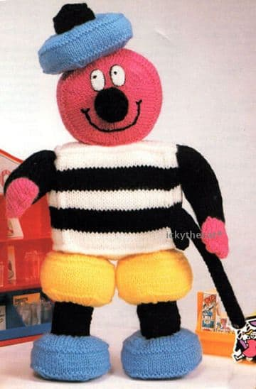 PDF Digital Download Vintage Knitting Pattern Bertie Bassett Soft Toy Licorice Allsorts Toys Doll