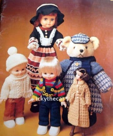 PDF Digital Download Vintage Knitting Pattern Book Rag Dolls Knitting Patterns 23 Toys