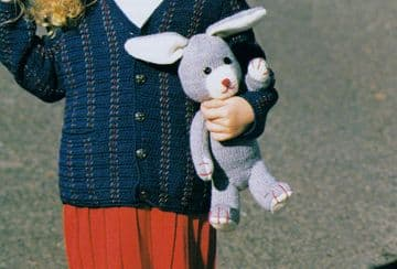 PDF Digital Download Vintage Knitting Pattern Bunny Rabbit 14'' Stuffed Soft Plush Toy Animal