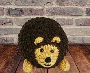 PDF Digital Download Vintage Knitting Pattern Cute Hedgehog Stuffed Plush Soft Body Toy Animal