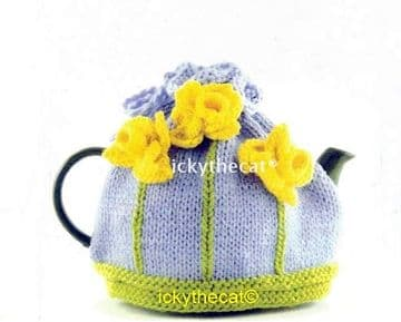 PDF Digital Download Vintage Knitting Pattern Daffodil Flower Floral  Tea Cosy Cozy