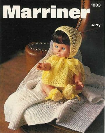 PDF Digital Download Vintage Knitting Pattern Doll Clothes 12-16'' Baby Dolls Toy Toys