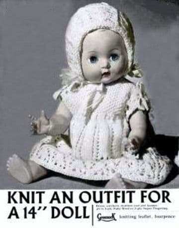 PDF Digital Download Vintage Knitting Pattern Doll Clothes 14'' Baby Dolls Toy Toys