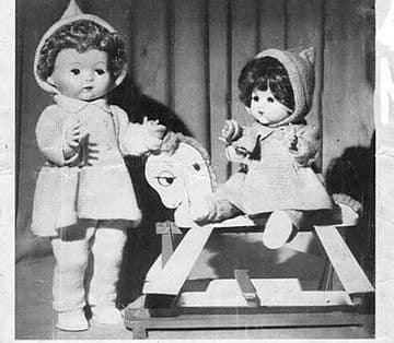 PDF Digital Download Vintage Knitting Pattern Doll Clothes 16 & 20''  Baby Dolls Toy Toys